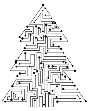 Leiterplatten Weihnachten