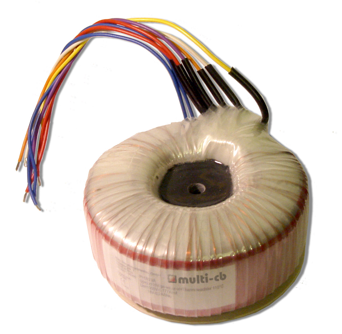 Centre potted toroidal transformer
