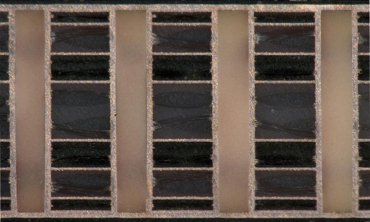 Filled & Capped Vias Microsection