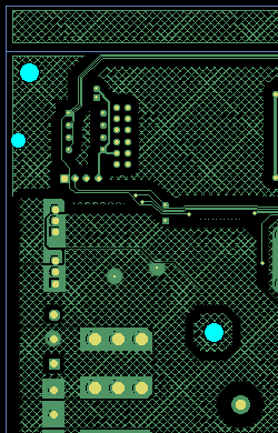 PCB with copper grid
