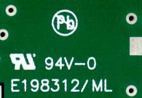 UL number on PCB